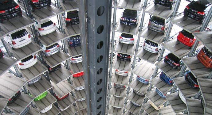 Large circular parking garage